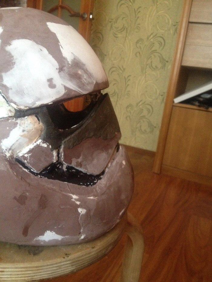 Сказ о том как я потратил больше 500 часов на создание шлема штурмовика первого ордена Star Wars star wars, ручная работа, звездные войны VIII, pepakura, шпатлевка, кропотливая работа, длиннопост, Штурмовик