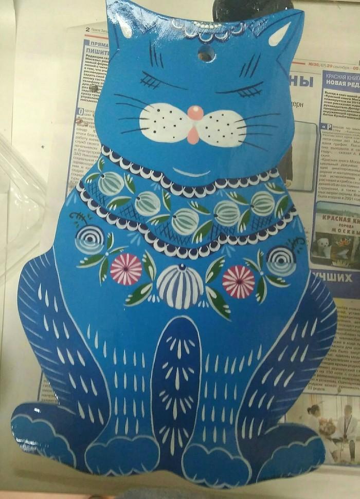 Городецкий кот Роспись по дереву, Колледж, Темпера, Кот