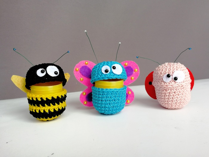 Вязаная игрушка из киндер-сюрприза вязаные игрушки, киндер сюрприз, игрушки, рукоделие с процессом, видео, длиннопост, вязание крючком, вязание