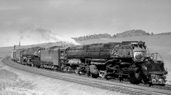 Big Boy Паровоз, Железная Дорога, США, Поезд, Товарный поезд, Видео, Длиннопост