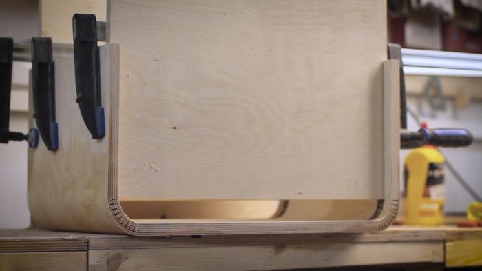 Гитарный кабинет в ретро-стиле гитарный кабинет, кабинет для гитары, комбик, своими руками, столярка, фанера, гнем фанеру, рукоделие с процессом, длиннопост