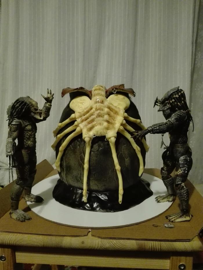 Торт для мужиков Торт, День рождения, Чужой, Лицехват, Длиннопост