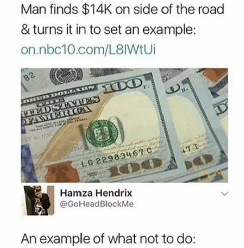 Пример 9gag, Комментарии, Деньги