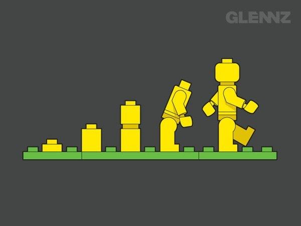 Эволюция Лего человечка