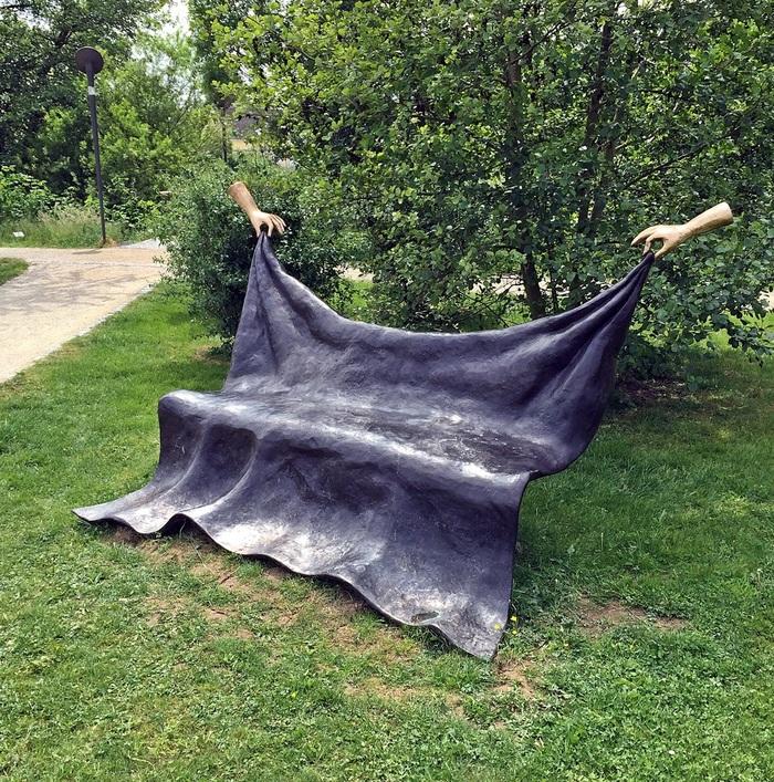 Необычная лавочка Скамейки, Креатив, Эшборн, Германия, Парк скульптур, Скульптура
