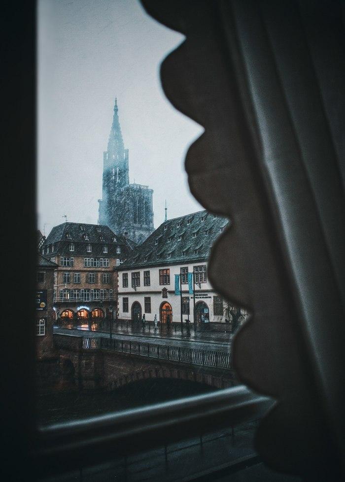 Любимый вечно пасмурный Страсбург Страсбург, Фотография, Notre Dame De Paris, Пасмурно