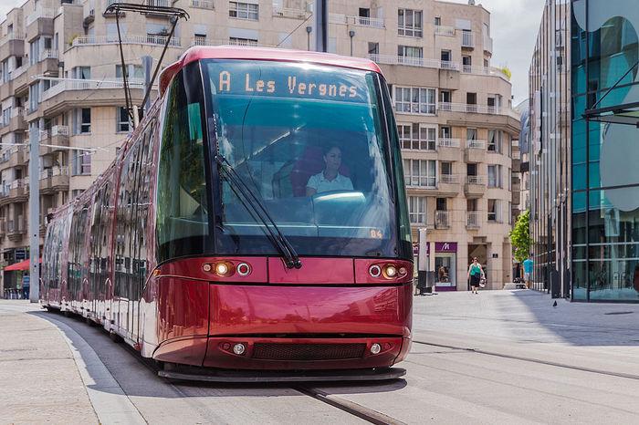 Трамвай на шинах - Транслор. Транслор, Общественный транспорт, Франция, Четко, Круто, Красота
