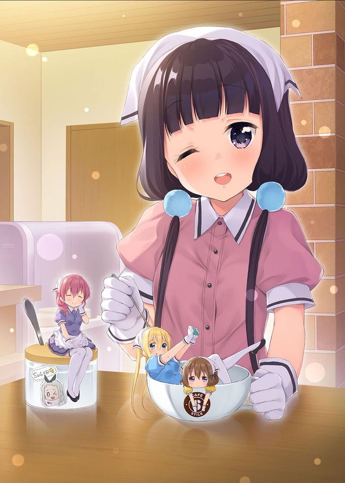 Blend S Аниме, Anime Art, Blend s, Sakuranomiya Maika, Hoshikawa Mafuyu, Hinata Kaho, Amano Miu