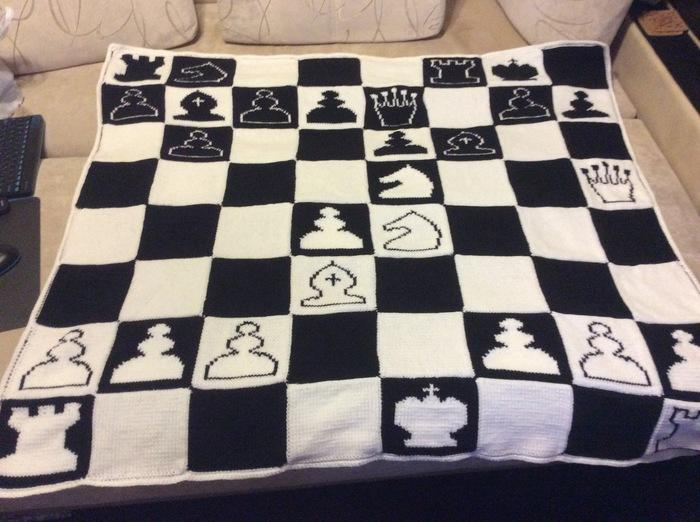 Пятничное мое или белые начинают Рукоделие без процесса, Вязание, Шахматные задачи, Длиннопост, Фотография