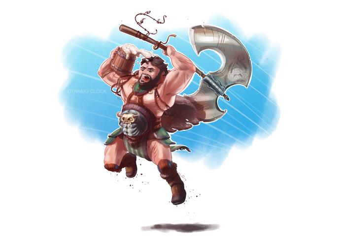 Пивной варвар Dungeons & Dragons, Настольные игры, Игры, Персонажи, Варвар, Арт