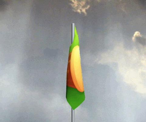 Поднять флаги! Флаг, Сайт, Небо, Ветер, 3D графика, Убийство времени, Развлечения, Гифка