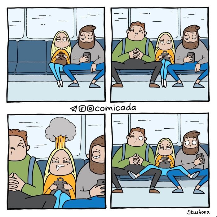 Противостояние в метро.