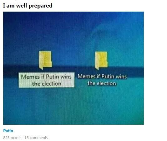 Как интернет шутил над выборами в России. Выборы, Путин, Политика, Длиннопост