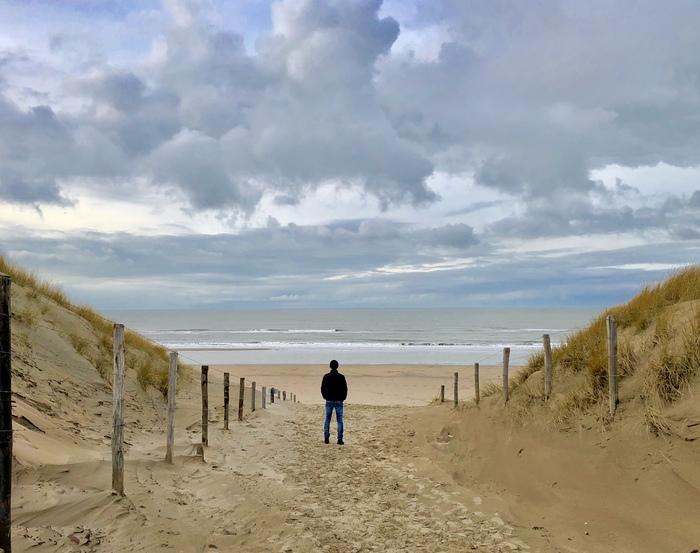 Нашел то самое место! Достучаться до небес, Северное море, Нидерланды, Фотография