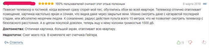 Телевизор стоимостью около 6 500 000 рублей Телевизор, Отзыв, Скриншот, Юмор