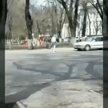 Преступление и наказание в Алматы Весна, Обострение, Псих, Гифка
