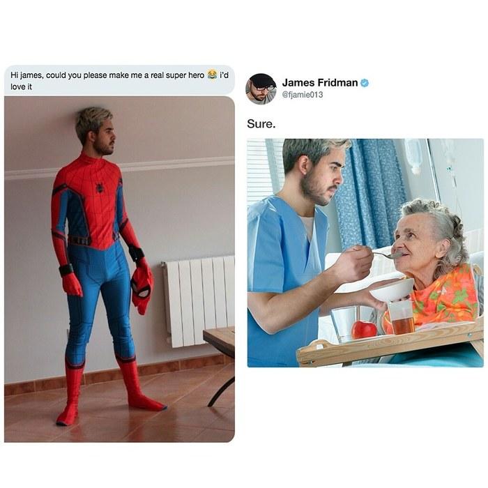 В каждой шутке есть доля правды. Photoshop, Джеймс Фридман, Twitter