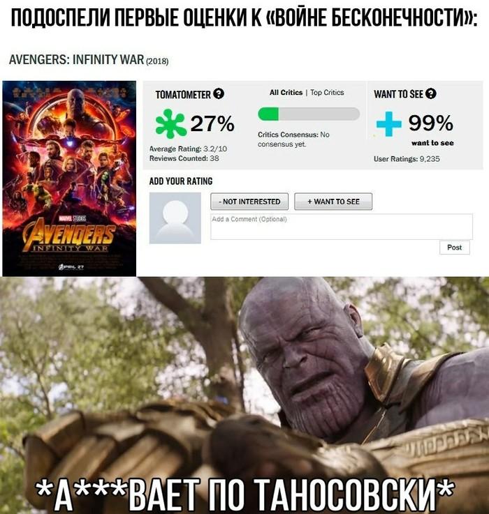 """Подоспели первые оценки """"Войны Бесконечности"""""""
