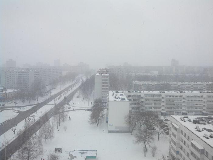 Утро 1 апреля. Зима кончай шутить. 1 апреля, Зима, Весна, Фотография, Набережные челны, Снегопад