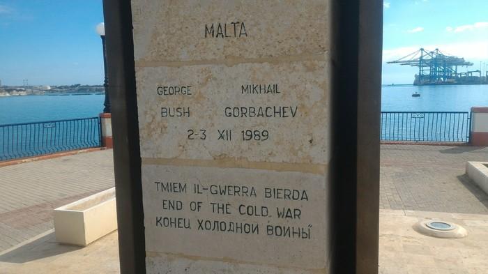 Конец холодной войны. Памятник. Памятник, Холодная война, Длиннопост, Мальта, История, Фотография