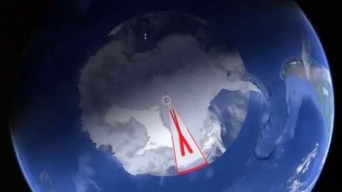 На картах Google Earth обнаружена таинственная маркировка Антарктиды Новости, Мистика, Мир, Google, Загадка
