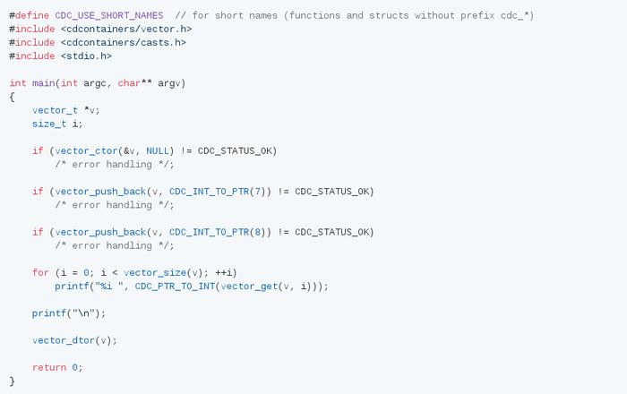 Динамическая библиотека структур данных для C с интерфейсом похожим на C++ C, Структуры Данных, Библиотека, Контейнер