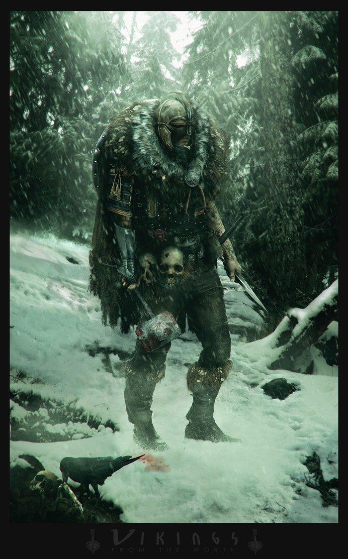 Vikings from the north. Арт, Arnaud Valette, Викинги, The Lost Vikings, Длиннопост