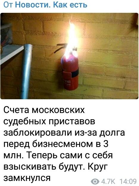 Замкнутый круг Новости, Telegram, Судебные приставы, Россия, Юмор, Нарочно не придумаешь