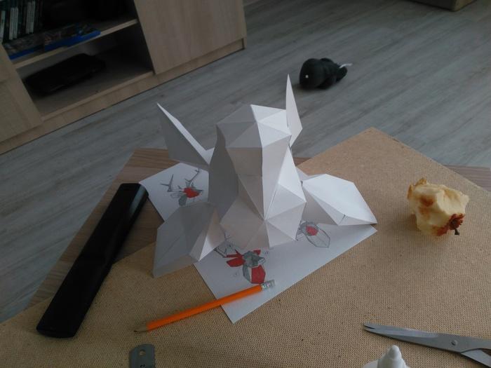 Бумажный трофей papercraft, рукоделие, трофей, изделия из бумаги, длиннопост