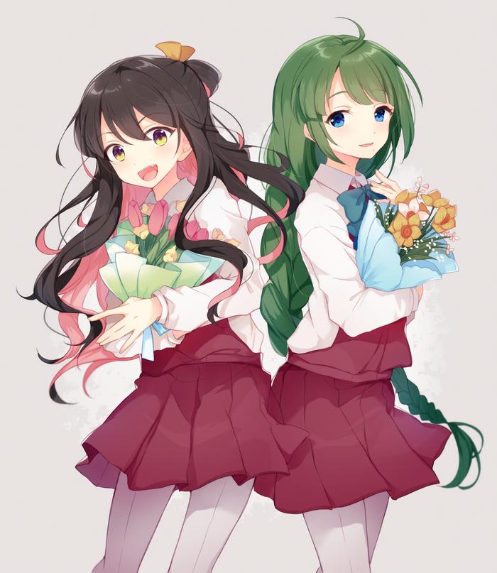 Naganami and Yuugumo Kantai collection, Naganami, Yuugumo, Аниме, Anime Art