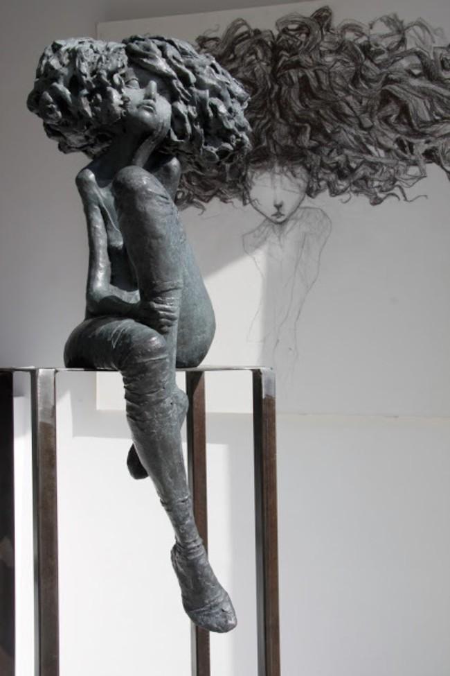 Грусть в бронзе Скульптура, Грусть, Меланхолия, Франция, Бронза, Длиннопост
