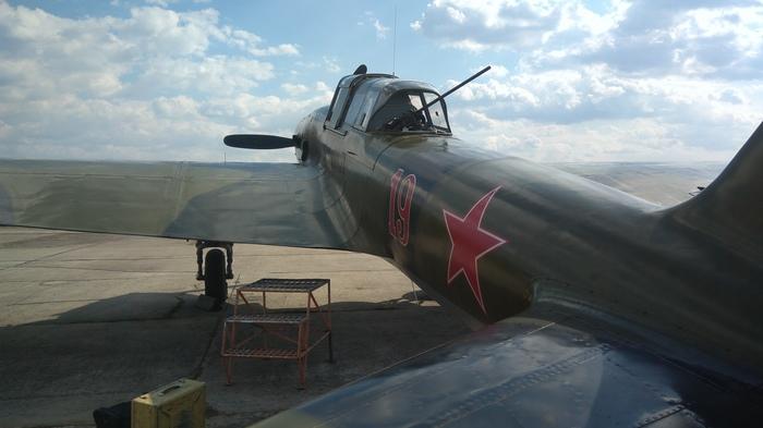 Ил-2 на аэродроме Орешково Ил-2, Самолет, Вторая мировая война, Фотография, Длиннопост