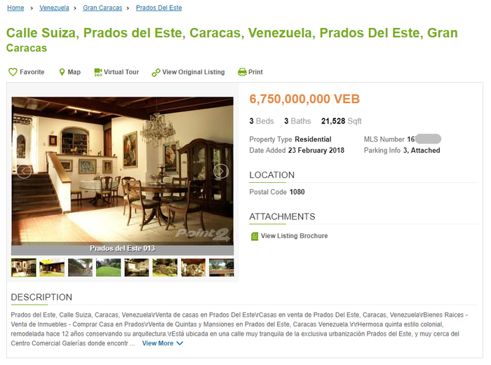 Венесуэльский рынок недвижимости (#1) Венесуэла, Недвижимость, Боливар, Кризис, Каракас, Миранда, Длиннопост