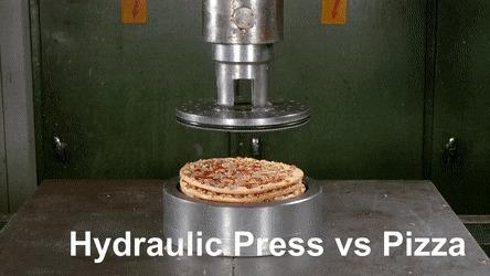 Гидравлический пресс и пицца