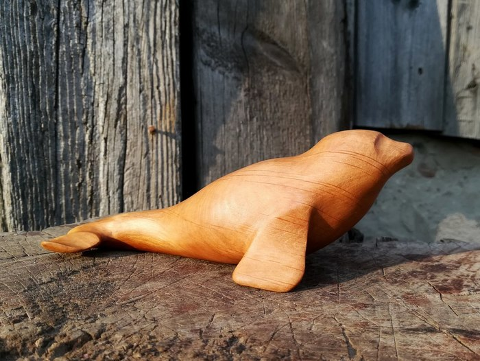 Два тюленя Тюлень, Кот, Резьба по дереву, Статуэтка, Ручная работа, Своими руками, Длиннопост