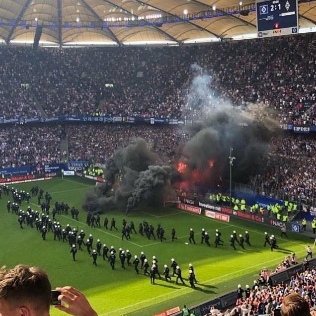 Ярость и гнев Футбол, Гамбург, Бундеслига, Фанаты, Фотография