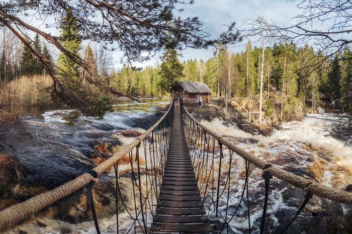 Рускеальские водопады в Карелии
