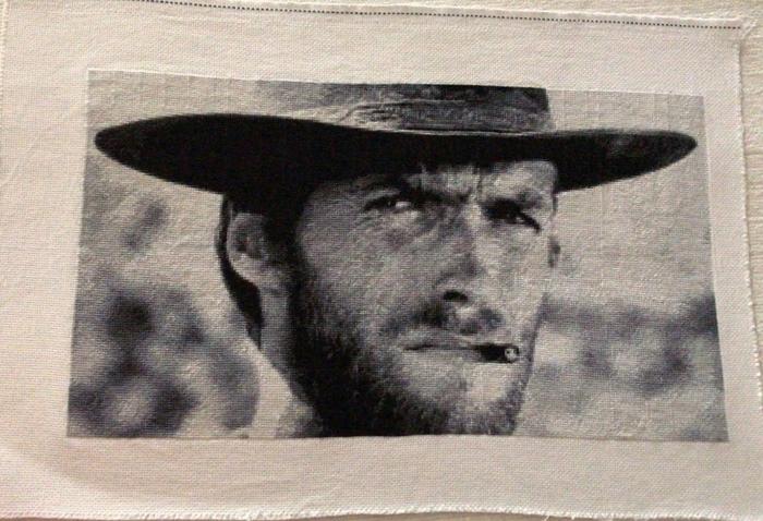 Клинт Иствуд Клинт Иствуд, Хороший плохой злой, Вышивка крестом, Подарок, Рукоделие без процесса
