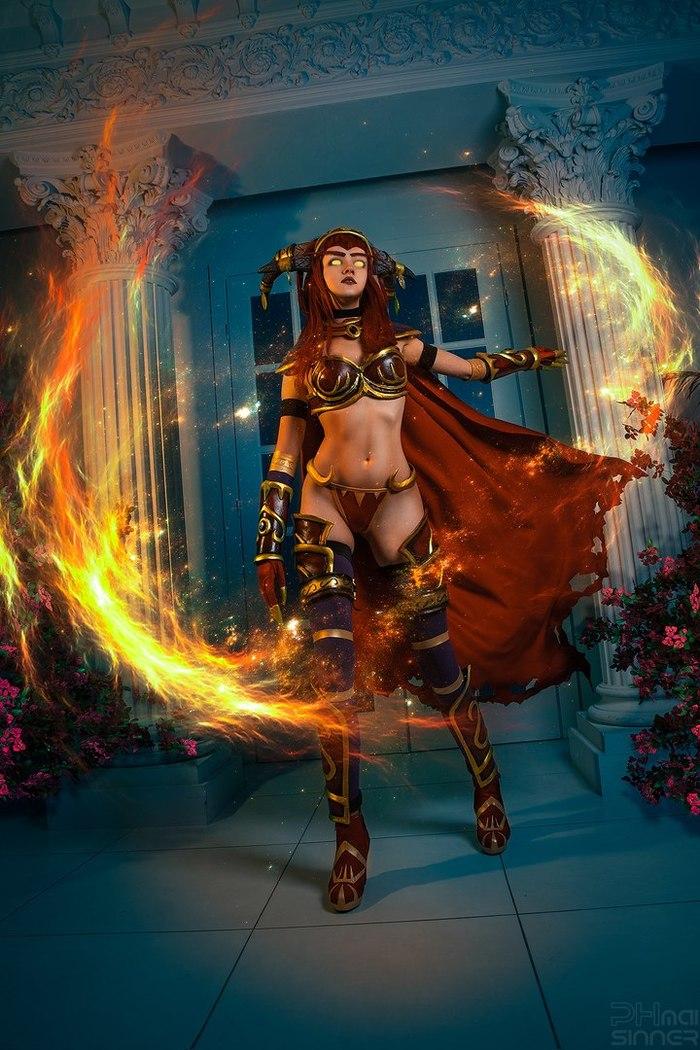 Alexstrasza! Алекстраза, Косплей, Liorra, World of Warcraft, Красивая девушка, Мать драконов, Длиннопост