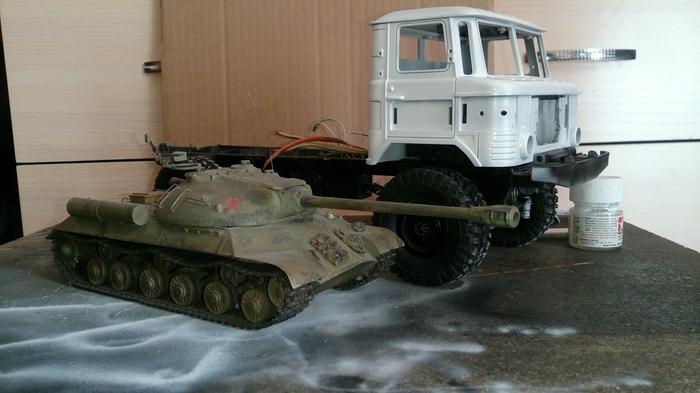 Стройка ГАЗ-66 в 1:16 масштабе. Wpl, Газ-66, Радиоупраление, Дакар, Длиннопост