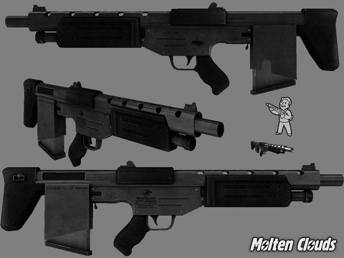 3D Модели лёгкого оружия из Fallout 2 + Гранаты Fallout, Оружие, Разработка, Molten Clouds, Пистолеты, Винтовка, Гранаты, Револьвер, Длиннопост