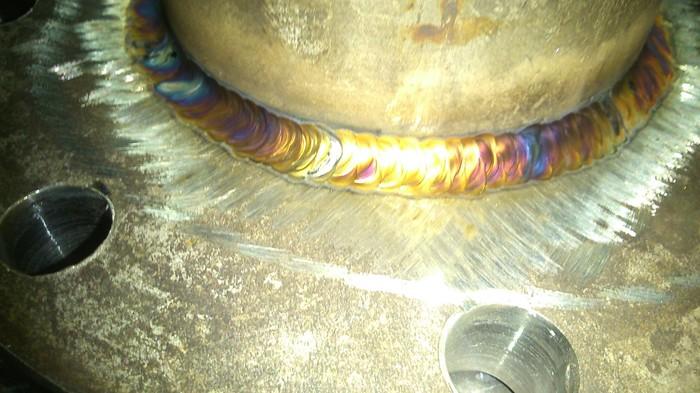 Переливы цветов на металле. Сварка, Работа, Побежалость, Металл