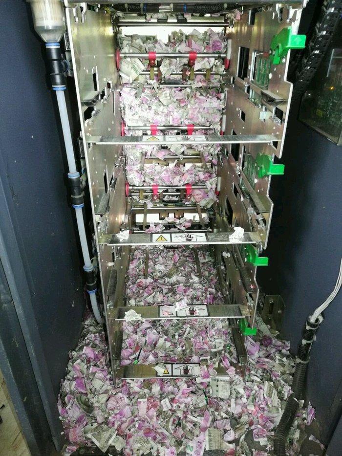 Индийские крысы съели более 1 млн рупий в банкомате банкомат, крыса, деньги
