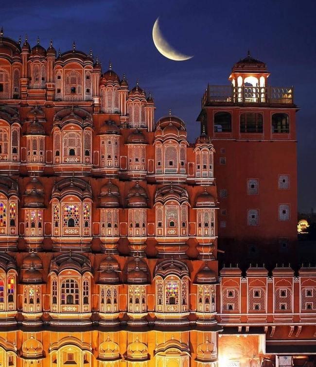 Дворец Ветров (Хава-Махал), Джайпур, Индия Индия, дворец, фотография, длиннопост