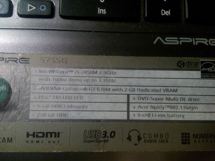 Ноутбук acer aspire 5755g. Резко помер. Ищу ремонтера в СПб. Ноутбук, Ремонт ноутбуков, Компьютер, Поломка, Лига ремонтеров