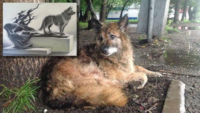 Памятник Найде: дворняга ждала хозяина 12 лет Найда, Собака, Преданность