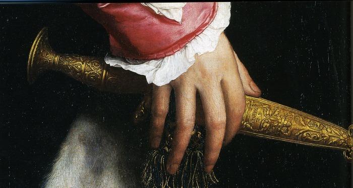 Оптическая иллюзия созданная художником в 1533 году Лига историков, Ганс Гольбейн Младший, Послы, Картина, Анаморфоза, 16 век, Видео, Длиннопост