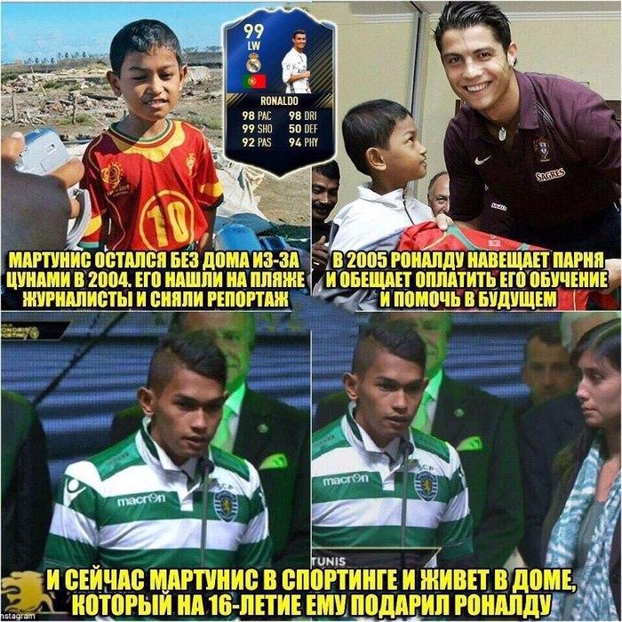 Хороший парень Криштиану Роналдо. Футбол, Доброта, Криштиану Роналду