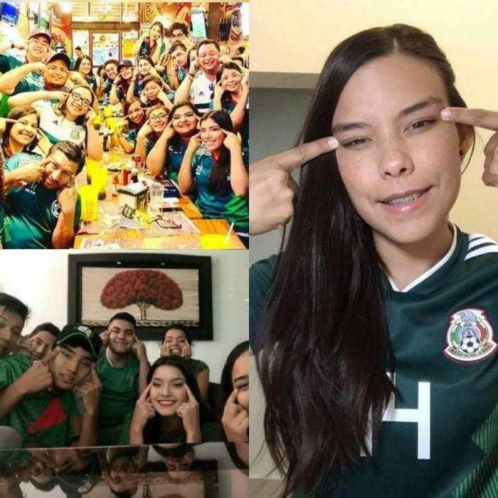 Мексиканцы благодарят Южную Корею Мексика, Футбол, Болельщики, Южная корея, Веселозадорно, Юмор, Узкие глаза