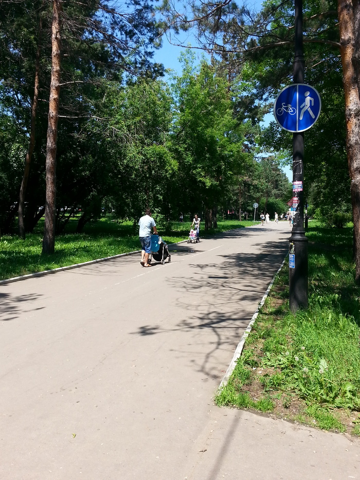 Никогда мне этого не понять. Велодорожка, Хабаровск, Яжмать, Яжотец, Припекло, Велосипед, Коляска, Длиннопост